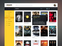 Recently I decided to redesign Amazon's movie streaming service for purely experimental purposes.  I wanted to go for something minimal yet visually striking.  Check out the full screens attached a...