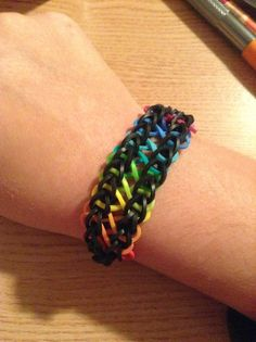 Infinity rainbow loom rubber band bracelet