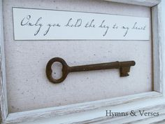 Hymns and Verses: Only You Hold the Key to My Heart - Skeleton Key Art