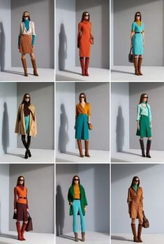 Diane Von Furstenberg's Color Palette. I especially love all the different teal-blue-green colours.
