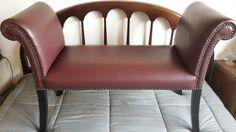 banqueta en cuero ecologico impecable estado. Love Seat, Couch, Chair, Furniture, Home Decor, Banquettes, Couches, Leather, Settee