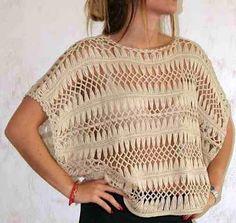 Crochê de grampo em alta - algumas blusas em tons neutros