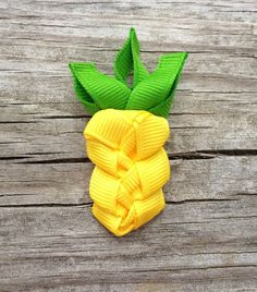Pineapple Ribbon Sculpture Hair Clip - Toddler Hair Bows - Girls Hair Accessories... Free Shipping Promo