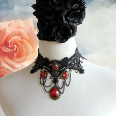 $6.24 Stunning Faux Gem and Tassels Decorated Lace Necklace For Women