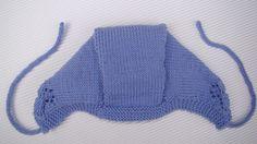 tutorial puntomoderno.com, capota de bebé tejida a dos agujas, also english pattern