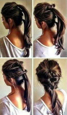 Unique cute hairstyle.