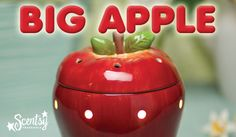 April 2013 Scentsy Warmer of the Month! Big Apple is a three-piece warmer with amazing, hand-painted details! off for the month of April 2013 only! Scented Wax, Scented Candles, Apple Press, Candles Online, Candle Warmer, Wax Warmers, Great Teacher Gifts, Red Candy, Good Enough To Eat