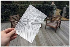 Incredible Collection of 'Pencil Vs. Camera' Art By Ben Heine Ben Heine is the pioneering genius behind the 'Pencil vs Camera' photography.we have assembled 40 splendid examples of his works. Creative Pencil Drawings, 3d Drawings, Amazing Drawings, Art Postal, Ben Heine, Collages, Camera Art, Drawing For Beginners, Pencil Art