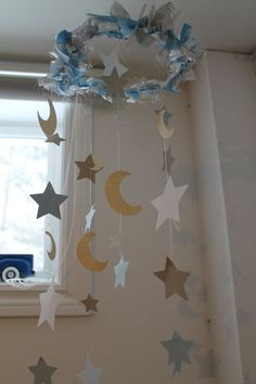 Stars and Moons Paper Moblie by RainbowBabyPaper on Etsy, $31.00