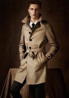 burberry ostrich leather trench coat