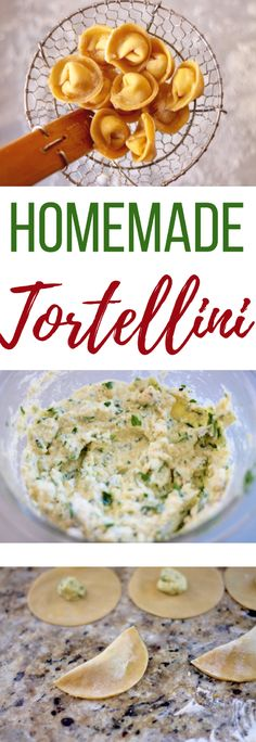 A step-by-step guide to making your very own Homemade Tortellini. - Food I Love - Tortellini Homemade Tortellini, Tortellini Recipes, Homemade Ravioli Recipe, Vegan Tortellini, Vegetarian Recipes, Cooking Recipes, Healthy Recipes, Cooking Tips, Pasta Dishes