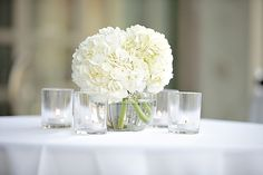 white hydrangea centerpieces - Google Search