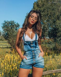 Denim overalls for summer - Denim overalls for summer Source by nappokiller - Casual Summer Outfits, Short Outfits, Outfits For Teens, Trendy Outfits, Fall Outfits, Fashion Outfits, 50 Fashion, Simple Outfits, Overalls Outfit