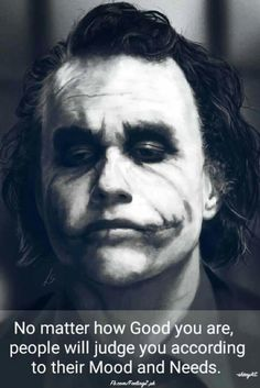 The Joker - Heath Ledger by Unam-et-solum on DeviantArt Best Joker Quotes, Badass Quotes, Joker Qoutes, Dark Quotes, Wisdom Quotes, Truth Quotes, Humour Quotes, Hahaha Joker, Joker Frases