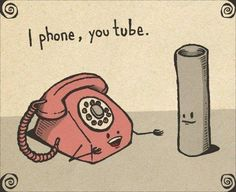 I phone, you tube