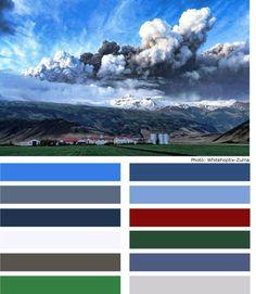 Icelandic colour pallete