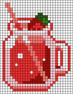 Melty Bead Patterns, Hama Beads Patterns, Beading Patterns, Tiny Cross Stitch, Cross Stitch Designs, Cross Stitch Patterns, Diy Perler Beads, Perler Bead Art, Pixel Art Grid