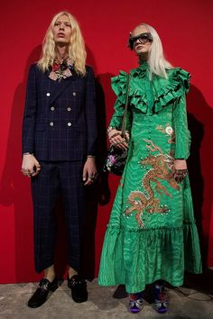 Backstage at Gucci SS17