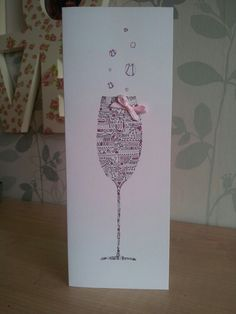 Girly 21st birthday card. Chin chin... By @Jenna Nelson Simpson