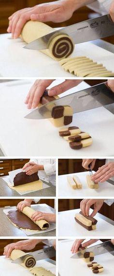 Damalı Kurabiye Tarifi(anlatımlı resimli) - galletas - Las recetas más prácticas y fáciles Cake Cookies, Cupcakes, Zebra Cookies, Cookie Recipes, Dessert Recipes, Food Decoration, Arabic Food, Sweet Recipes, Biscuits