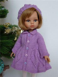 Вязаный комплект для куколок ростом 32-35см.Скидка! / Одежда для кукол / Шопик. Продать купить куклу / Бэйбики. Куклы фото. Одежда для кукол