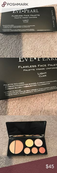 Eve Pearl Flawless Face Palette Light New. Fantastic deal. Price reduced for 24 hours. PRICE FIRM. Will go back to original price of $55 tomorrow. Eve Pearl Makeup
