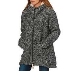 Billabong Magda Sherpa Lined Jacket - Black | Free UK Delivery*