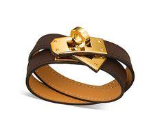 Hermes Kelly Leather Wrap Bracelet