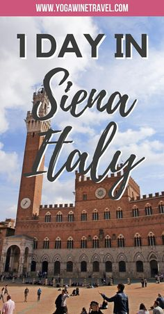 Yogawinetravel.com: One Day in Siena, Explore the Historic Tuscan City On Foot. Siena is a stunning city in the heart of Tuscany that has preserved its medieval charm and architecture. Though many return visitors to Italy opt to stay a few nights in the historic centre of Siena, it is easy to visit Siena as a day trip from its Tuscan neighbour, Florence. Read on for a guide for what to see and do in Siena if you only have 1 day to explore the city!