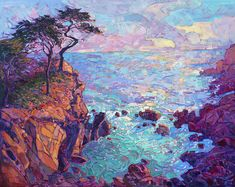Cypress Vista Painting by Erin Hanson