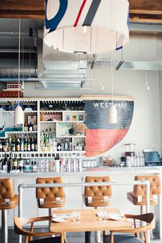 Westward, a restaurant and oyster bar on Seattle's Lake Union