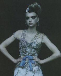 gemma ward shot by paolo roversi for vogue italia