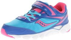Saucony Girls' Varana A/C Running Shoe (Little Kid),Blue/Pink,13 M US Little Kid. Glittery Mary Jane with glossy toe cap and ruffled tulle at vamp.