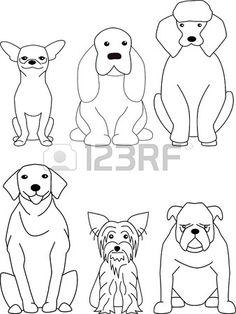 hond cartoon Stockfoto