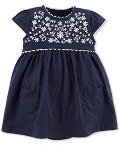 Carter's Baby Girls' Embroidered Dress - Kids Dresswear - Macy's
