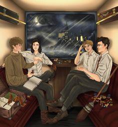 Arte Do Harry Potter, Harry Potter Artwork, Harry Potter Ships, Harry Potter Drawings, Harry Potter Pictures, Harry Potter Universal, Harry Potter Fandom, Marauders Fan Art, Harry Potter Marauders