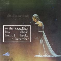 To the beautiful boy whose heart I broke in December...