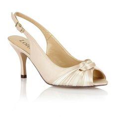 Lotus Beige multi satin 'Janice' peep toe shoes- at Debenhams.com