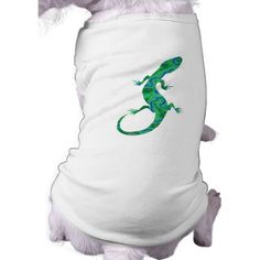The Green #Gecko #Dog Tee #Shirt #Animals #gifts by Krisi ArtKSZP on Zazzle