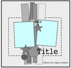 My Scrappy Life: Sketches Scrapbook Layout Sketches, Card Sketches, Scrapbooking Layouts, Scrapbook Cards, Digital Scrapbooking, Photo Sketch, Sketch 2, Paper Art, Paper Crafts