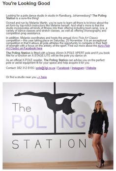 #inpoleposition #studiospotlight Pole Dance Studio, Pole Dancing, Art Forms, South Africa, How To Look Better, Studios, Movie Posters, Film Poster, Popcorn Posters