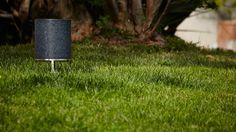 When Landscape sounds good! Small Cylinder in black granite, omnidirectional sound module designed by Vladimir Djurovic for Architettura Sonora Granite Stone, Black Granite, Sounds Great, Terracotta, Exterior, Landscape, Metal, Speakers, Design
