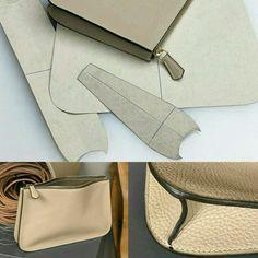 Leather Diy Crafts, Leather Bags Handmade, Leather Projects, Leather Craft, Leather Bag Tutorial, Leather Bag Pattern, Sewing Leather, Leather Purses, Leather Handbags