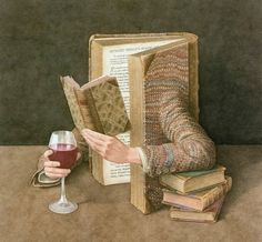 The Surreal Books series  |  Artist:  Jonathan Wolstenholme (1950) London, UK  |  via:  http://zezete2.centerblog.net