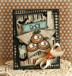 Boo! card by Laurie Schmidlin for Paper Smooches