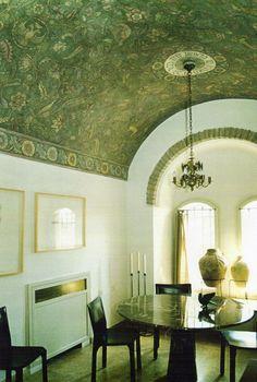 painted barrel ceiling by Laurel Sternberg  http://laurelmurals.com