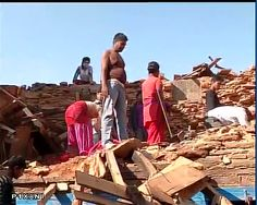 Sindhupalchowk (Nepal): Massive destruction due to #NepalEarthquake, survivors still waiting for aid  Embedded image permalink