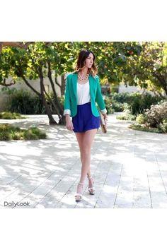 silver-dailylook-shoes-turquoise-blue-dailylook-blazer-navy-dailylook-shorts_400.jpg (400×600)