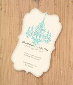 Lovely die cut business cards pinterest business cards business chic die cut business card for a chic client reheart Gallery