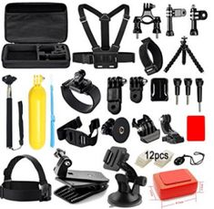 Soft Digits Accessories Kit for GoPro Hero 5 4 3 2 1 Session Accessory Bundle Set for Action Camera Xiaomi Yi-Flotation Handle+Head Strap+Octopus Tripod+Chest Strap Gopro Accessories, Photo Accessories, Electronics Accessories, Gopro For Sale, Octopus, Polaroid Cube, How To Make Camera, Kit, Gopro Hero 5
